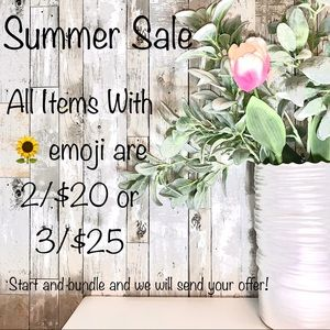Join our Summer Sale! Items with 🌻  on sale NOW!